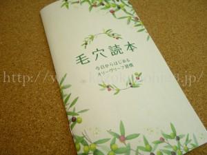 オリーヴフォレストお試しセットと一緒に届いた冊子『毛穴読本』には毛穴に関する豆知識がたくさん書かれています。