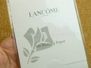 なんだあぶらとり紙か。イラン( -.-)ノ ・゜゜・。ポイッとしてしまうそうになるのですが、見てみて!可愛い。さすがはランコムでした。