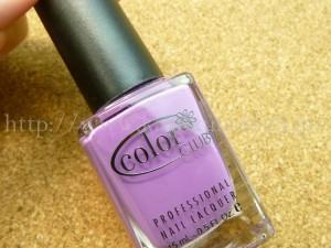グロッシーボックス7月分には、Forsythe Color Clubフォーサイス カラークラブ(サロン向けポリッシュ)の紫ネイルが入ってました