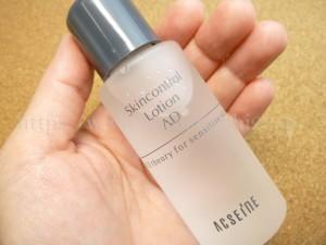 アクセーヌ ADコントロールローション(化粧水)低刺激・無香料で作られた化粧水なので、肌荒れしやすい時なども安心して使えます。