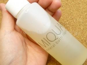 MIQUA(ミクア)ミネラルバスリキッドは天然ミネラルがバランス良く入ったデトックスできる入浴剤。グロッシーは変わったものが多いなぁと思いますが、物は試し!やってみます。