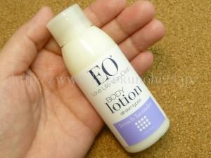 100%天然成分の高品質なエッセンシャルオイルしか使っていないEOエッセンシャルオイルのボディローション。人気のある商品のようなので楽しみ。