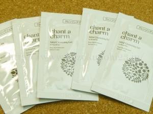 chant a charm mild cleansing gelは敏感肌用メイク落としです。きちんと落ちるか後ほど実験したいと思います。