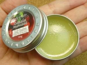 daily delight(デイリーディライト)リップバームcassismousseカシスの香りのリップバームを写真付きで口コミ報告します。