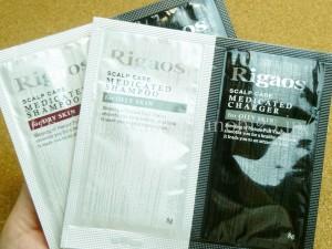 rigaos(リガオス)薬用スカルプケアシャンプー/チャージャーという男性用スカルプケア用品。オイリースキン用ドライスキン用両方入っていたので親切だと思いました。