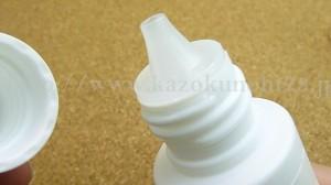 桃谷順天館rf28クリアドロップ角質ケア化粧水溶液部の口部分アップ写真。