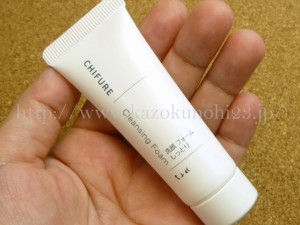 CHIFURE Cleansing Foam ちふれ洗顔フォームしっとりの泡立ちや水切れを写真付きで口コミ報告します。