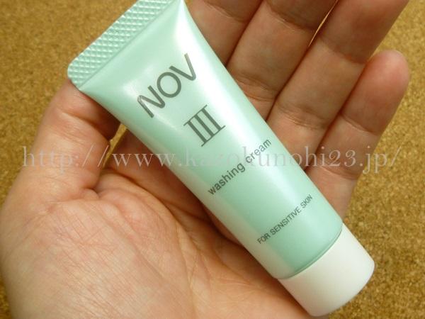 ノブ3お試しセットに入っていたウォッシングクリーム(洗顔料)の泡立ちや洗い上がりを写真付きで口コミ報告していきます。