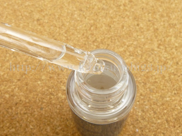 透輝の滴美容液は、無色透明でした。