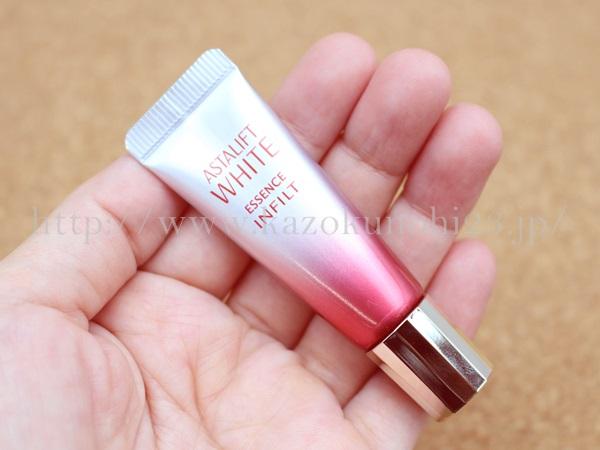 アスタリフト美白ケアアスタリフトホワイト エッセンスインフィルト(美白美容液)5mLを使った感想を写真付きで口コミ報告します。