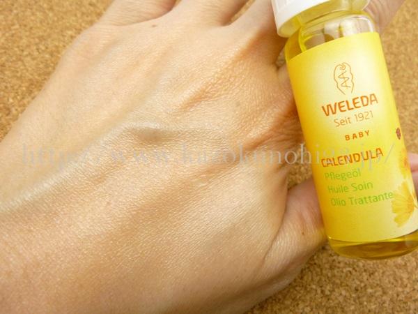 オーガニックスキンケア ヴェレダのベビーオイルの肌なじみを写真つきで口コミ公開中。