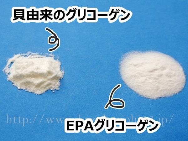 グリコgg化粧品の原料となっているグリコーゲンについての紹介。右はとうもろこし由来のグリコーゲン、左は牡蠣由来のグリコーゲンなんだそうです。