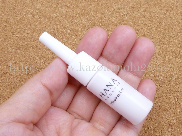 hanaオーガニック日中用日焼けどめ乳液の使い方や質感を写真つきでクチコミ中。