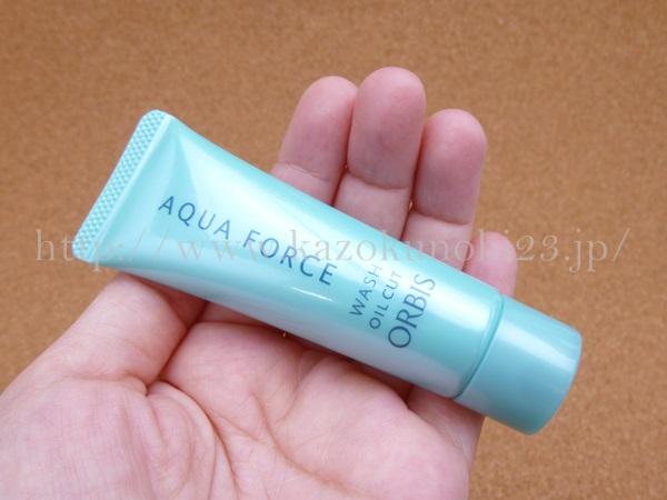 orbis aqua force wash oil cut オルビスアクアフォースマイルドウォッシュ洗顔料の泡立ちを写真つきで口コミ報告します。