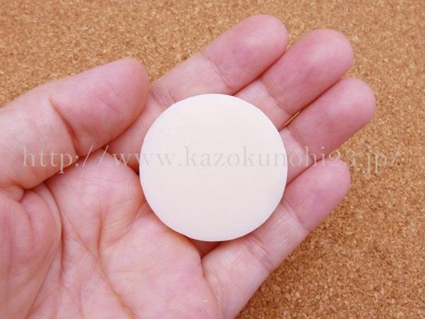 資生堂プリオール オールクリア石鹸(メーク落とし・洗顔石鹸) 8gの泡立ちを確認します。