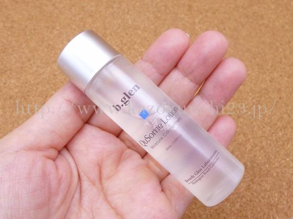 ビバリーグレンのキューソーム化粧水の肌なじみを写真付きでクチコミ報告します。