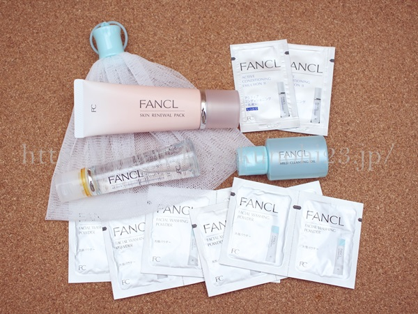 ファンケル スキンリニューアルパックお試しセットは、角質ケアができるスキンリニューアルパックがメインの基礎化粧品お試しセットです。