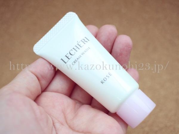 KOSE LECHERI(ルシェリ)トライアルキットの洗顔料の使い心地を写真付きで口コミ報告します。