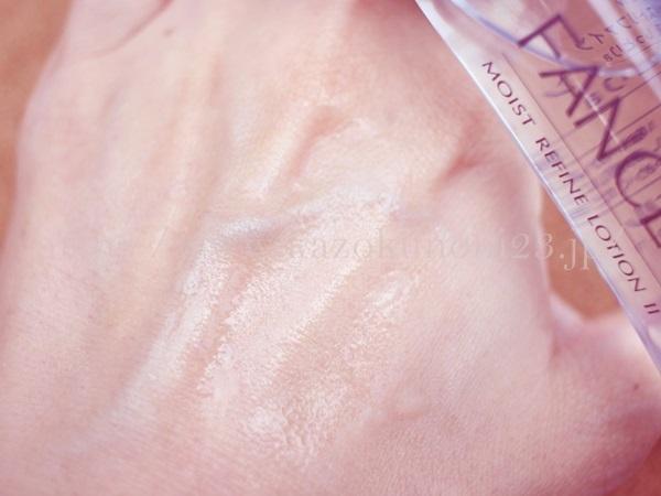 ファンケルスキンケア モイストリファインローションの肌なじみを公開しています。